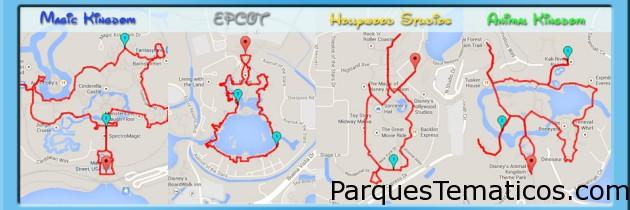 Mapas de Disney para caminar en Orlando