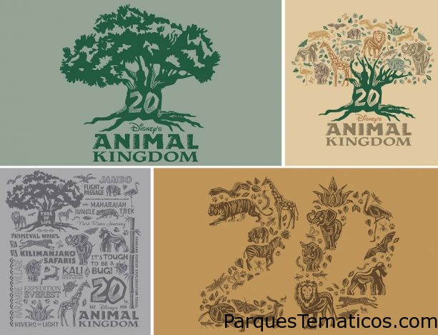 Iconic Centerpiece of Disney's Animal Kingdom Inspires 20th Anniversary Merchandise Collection